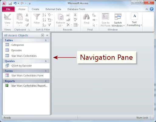 Interface Navigation Pane Basics Jan S Working With
