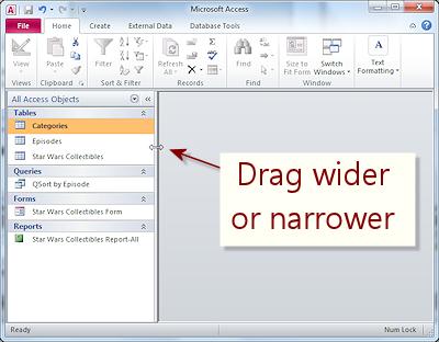 Interface: Navigation Pane | Basics | Jan's Working with Databases
