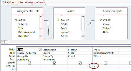 how to create a parameter query access 2016