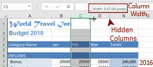 how to make columns add in excel