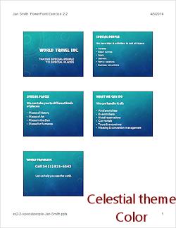 word 2013 celestial theme