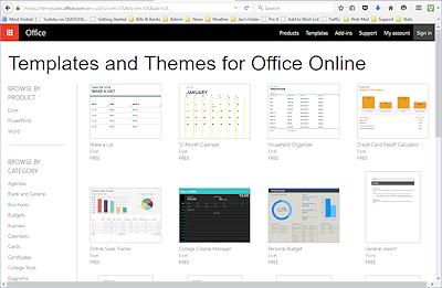 office online templates