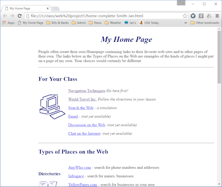 Saving Save Browser Basics Jans Working with the Web