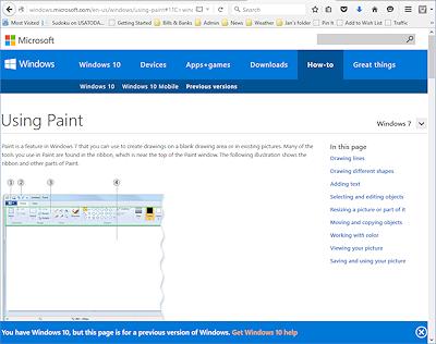 Help Application Help Windows Basics Jan 39 S Working
