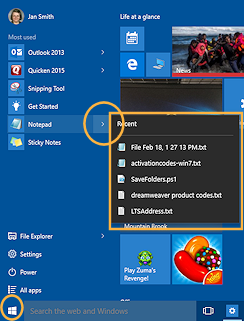 Glossary | Jan's Working with Windows 10 | Jegsworks