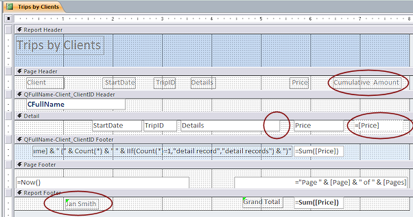 Reports: Simple Totals | Forms & Reports | Jan's Working
