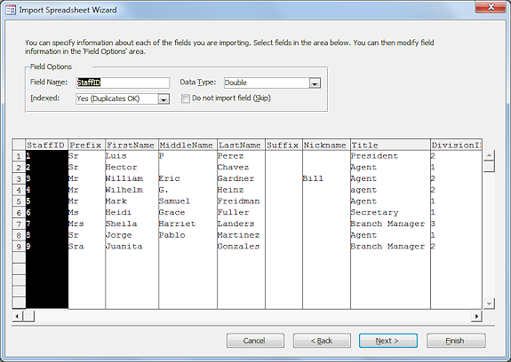 Tables Import Spreadsheet Tables Queries Jans Working With