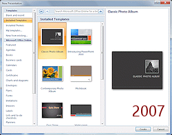 Templates themes format jans working with presentations dialog new presentation installed templates powerpoint 2007 toneelgroepblik Choice Image