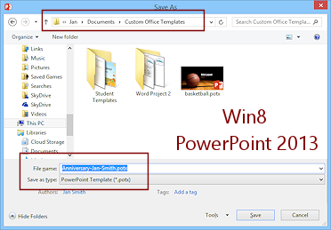Templates themes save as template format jans working with dialog save as powerpoint 2013 on win81 toneelgroepblik Gallery