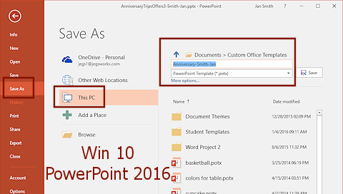 Templates themes save as template format jans working with dialog save as powerpoint 2016on win10 toneelgroepblik Choice Image